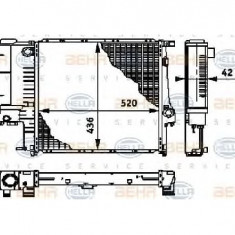 Radiator, racire motor BMW 5 E34 PRODUCATOR HELLA 8MK 376 713-241