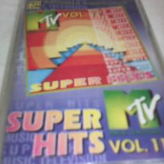 CASETA AUDIO SUPER HITS MTV VOL 11 ORIGINALA - Muzica Dance, Casete audio