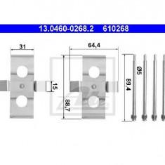 Set accesorii, placute frana MERCEDES-BENZ E CLASS W124 PRODUCATOR ATE 13.0460-0268.2