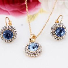 Placate cu aur de cristal Pandantive Accesorii colier cercei de nunta Seturi