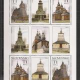 Slovacia.2008 Frumuseti turistice:Biserici de lemn-coala mica  MS.475, Nestampilat