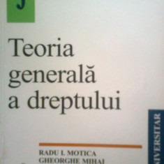 TEORIA GENERALA A DREPTULUI -RADU I. MOTICA -GH. MIHAI (2001) - Carte Teoria dreptului