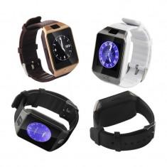 Smartwatch Ceas Inteligent DZ09 NOI in Cuti. Cu SIM GSM si Micro SD! SUPER PRET!, Aluminiu, Tizen Wear, Apple Watch