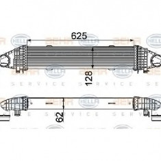 Intercooler, compresor MERCEDES-BENZ C CLASS T Model S204 PRODUCATOR HELLA 8ML 376 777-091