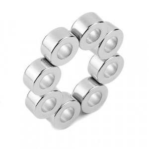 Magnet puternic neodim inel 10 x 05 x 05 mm diametral experimente magnetice