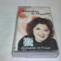 CASETA AUDIO MANELE MINODORA LA MAXXIM CE DREPTATE AU BARBATII ORIGINALA - Muzica Lautareasca, Casete audio