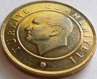Moneda 25 Kurus - TURCIA, anul 2011 *cod 4133 UNC foto mare