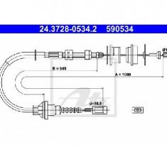 Cablu ambreiaj FIAT DUCATO bus 230 PRODUCATOR ATE 24.3728-0534.2 - Kit ambreiaj