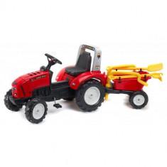 Tractor Lander Rosu Cu Remorca Falk