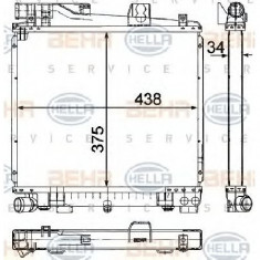 Radiator, racire motor BMW 3 E30 PRODUCATOR HELLA 8MK 376 710-751