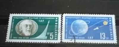 BULGARIA 1962 – POSTA AERIANA ASTRONAUTICA, serie stampilata S341 foto