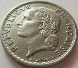 Moneda 5 Franci - FRANTA, anul 1949  *cod 3100  Allu xF