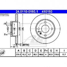 Disc frana FORD ESCORT Mk III GAA PRODUCATOR ATE 24.0110-0193.1 - Discuri frana