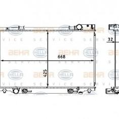 Radiator, racire motor TOYOTA PREVIA TCR2 TCR1 PRODUCATOR HELLA 8MK 376 708-341