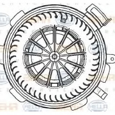 Ventilator, habitaclu MERCEDES-BENZ SPRINTER 3 t bus 906 PRODUCATOR HELLA 8EW 351 034-071