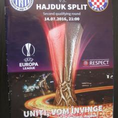 CSMS Iasi - Hajduk Split (14 iulie 2016) - Program meci
