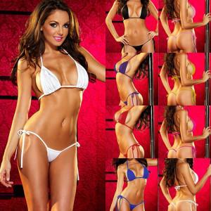 Costum de baie mini reglabil colours sexy Sutien + Bikini Tanga Lady Lust