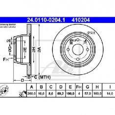 Disc frana OPEL VECTRA A hatchback 88 89 PRODUCATOR ATE 24.0110-0204.1 - Discuri frana