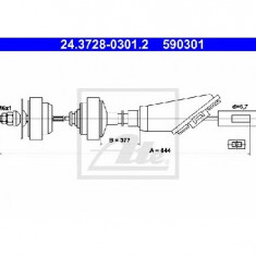 Cablu ambreiaj CITROˎ AX ZA PRODUCATOR ATE 24.3728-0301.2 - Kit ambreiaj