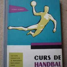 curs de handbal ioan kunst carte ed didactica si pedagogica 1963 RPR sport hobby