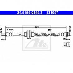 Furtun frana RENAULT MEGANE II Sport Tourer KM0 1 PRODUCATOR ATE 24.5155-0445.3