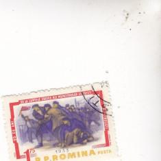Timbre st din Romania lupta ceferistelor - Timbre Romania, Stampilat