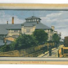 3027 - Iasi, PASCANI, Atelierul C.F.R. - old postcard - used - 1914 - Carte Postala Moldova 1904-1918, Circulata, Printata