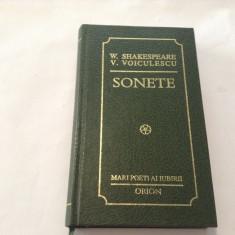 W SHAKESPEARE,V VOICULESCU SONETE,EDITIE BIBLIOFILA,RF7/2