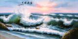 Pictura in acuarela reproducere - Seascape  - Zhang Yuan 132x63 cm