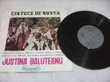Cumpara ieftin DISC VINIL CINTECE DE NUNTA JUSTINA BALUTEANU RARITATE!!EPD1183