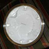 Vas multifunctional, din metal argintat si cu bordura fin aurita, diam.23, 5cm - Metal/Fonta