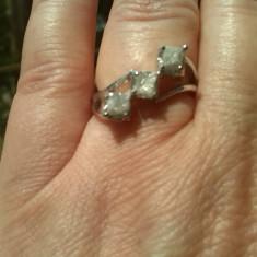 DIAMANTE_inel argint diamante naturale brute congo cubes peste 1 carat