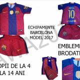 ECHIPAMENTE FOTBAL BARCELONA MESSI-2017.COPII 4-14 ANI, LIVRARE GRATUITA - Set echipament fotbal Nike, Marime: XXL, XL, M, S