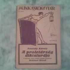 A proletarsag diktaturaja-Kautsky Karoly