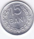 Moneda Romania ( R.S.R. ) 15 Bani 1975 - KM#93a UNC (luciu foarte frumos)