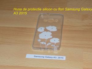Husa de protectie silicon cu flori Samsung Galaxy A3 2015