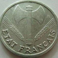 Moneda 1 Franc - FRANTA, anul 1942 *cod 3145 Allu, Europa, Aluminiu