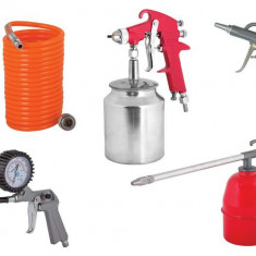 089902-Set 5 accesorii pentru compresor Raider Power Tools RD-AT01 - Compresor electric Raider Power Tools, Compresoare cu piston