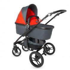 Sistem modular DhsBaby Arrow 2in1 rosu - Carucior copii 3 in 1 DHS Baby, Pliabil, Maner reversibil