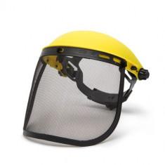 Ecran de protectie faciala cu plasa de otel si banderola de cap. - Echipament lucru