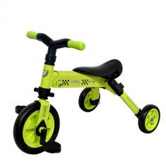 Tricicleta pliabila DhsBaby B-Trike verde - Tricicleta copii DHS Baby, Unisex