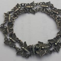 Bratara argint 800 Fluturasi in filigran Veche executata manual Finuta Delicata