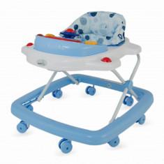 Premergator cu jucarie muzicala DhsBaby Easy albastru, 1-3 ani