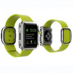 Husa carcasa slim din plastic pentru Apple Watch 38mm, transparent
