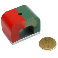 Magnet puternic potcoava 45 x 30 x 30 mm rezistent la coroziune