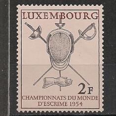 Luxemburg.1954 C.M. de scrima CL.133 - Timbre straine, Nestampilat