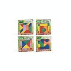 Mozaic din lemn forme geometrice - Jocuri Forme si culori