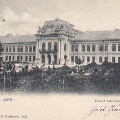 IASI, PALATUL ADMINISTRATIV, CLASICA, ED. D. P. ORNSTEIN, IASI, CIRC. 1904 - Carte Postala Moldova pana la 1904, Circulata, Printata