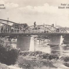 SATU - MARE, PODUL PESTE SOMES - Carte Postala Maramures dupa 1918, Necirculata, Printata
