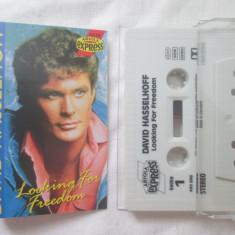David Hasselhoff – Looking For Freedom _ caseta audio originala,Germania, Casete audio, ariola